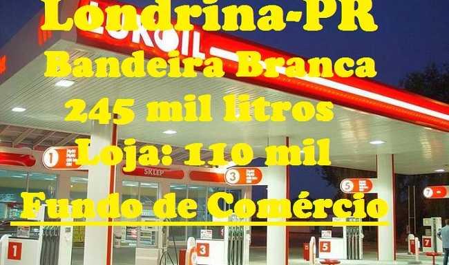 Posto de Gasolina bandeira branca à venda Londrina-PR